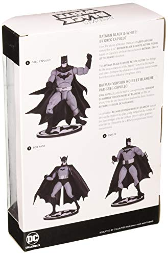 e8f31562aa Entertainment Earth Batman Black and White Batman by Greg Capullo Action  Figure