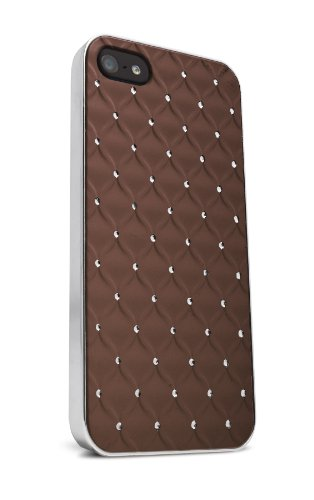 iFrogz IP5JWL-BRN Jewel Case for iPhone 5 - 1 Pack - Retail Packaging - Brown (Ipod 5 Case Jewels)