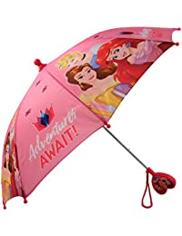 Little Girls Assorted Characters Rainwear Umbrella, Ages 3-7