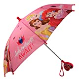 Disney Little Girls Assorted Characters Rainwear Umbrella, Pink, Ages 3-7