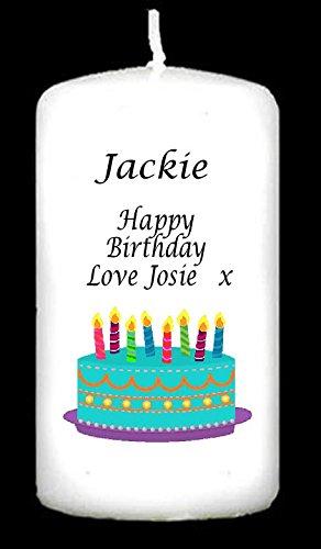 Cellini velas personalizado con tarta de cumpleaños y globos ...