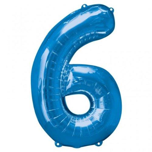 3 opinioni per Amscan, Palloncino a forma di numero 6, 58 x 88 cm, colore: Blu