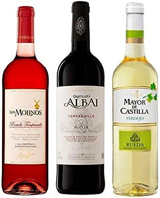 Pack de Vinos Valdepeñas Rosado Los Molinos 75cl - Rioja Joven ...