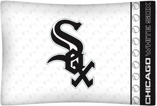 MLB Chicago White Sox Micro Fiber Pillow Case (Chicago White Sox Blank)
