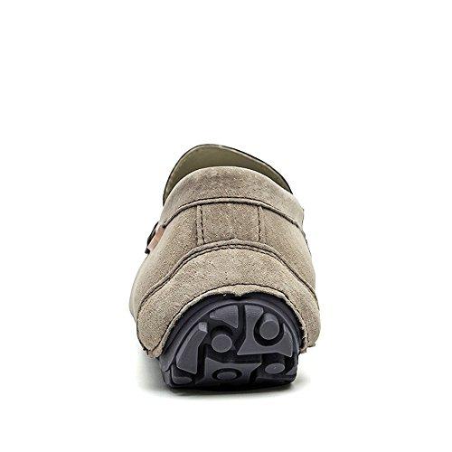 Mocassini Drive Tassel da British per Scamosciata Cachi Pelle Uomo Casual per Traspiranti Barche Mocassini in Cricket Fashion Scarpe vfdqRf