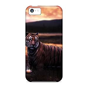 Premium [QUrZC8824fTMXn]tiger At Sunset Case For Iphone 5c- Eco-friendly Packaging