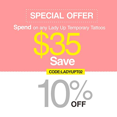 e9af0f57ecfbb ... Lady Up Flower Temporary Tattoos Stickers for Women Teens Girls Kid 10  Sheets Muti-Colored