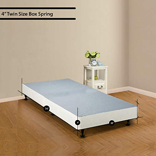 Spinal Solution 4-inch Low Profile Fully Assembled Foundation/Box Spring for Mattress, Twin Size by Spinal Solution (Image #6)
