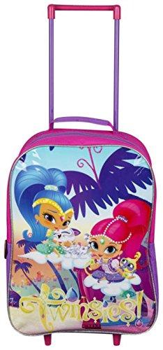 Shimmer and Shine carro con ruedas maleta - ruedas niños niños bolso de la cabina maleta equipaje de mano vacaciones viajes.: Amazon.es: Bebé