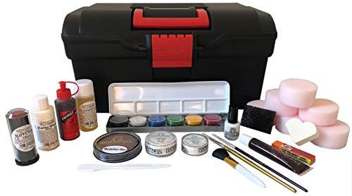 Eulenspiegel 299586 Halloween Make-Up Case Black / Red -