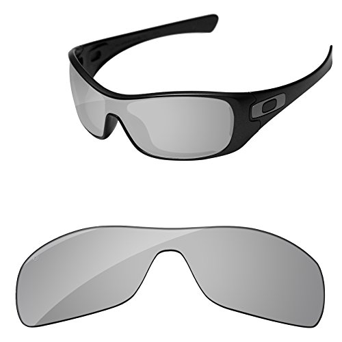 242b0ba75d PapaViva Replacement Lenses for Oakley Antix Pro+ Chrome Silver Polarized