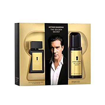 df9f3e74ba ANTONIO BANDERAS THE GOLDEN SECRET FOR MEN 200ML + AFTER LOTION 100ML   Amazon.co.uk  Health   Personal Care