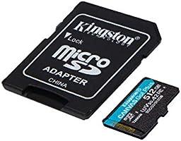 80MBs Works with Kingston Professional Kingston 512GB for FiGO Duos MicroSDXC Card Custom Verified by SanFlash.