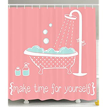 Amazon.com: Ambesonne Coral Shower Curtain Decor by ...