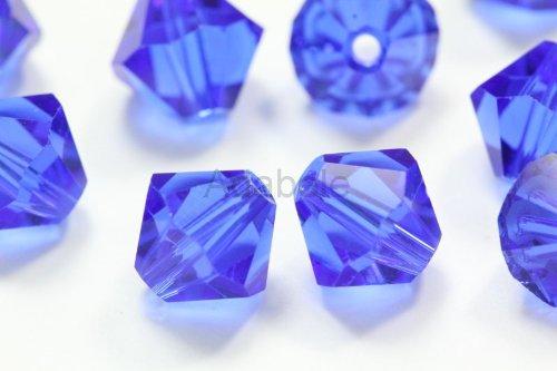 Sapphire Swarovski Crystal Bicone Bead - 100 8mm Adabele Austrian Bicone Crystal Beads Sapphire Alternative For Swarovski Preciosa Crystalized 5301/5328 #SSB813
