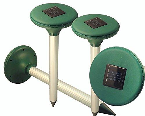 BlueDot Trading 4 mole chaser Solar powered ultrasonic Mo...