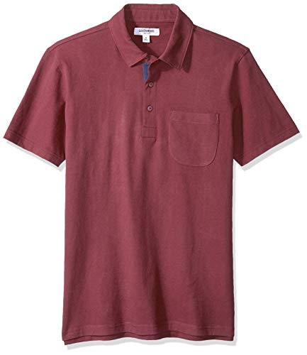 Goodthreads Men's Short-Sleeve Sueded Jersey Polo, Burgundy, X-Large
