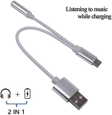 yeworth 2 en 1 tipo C a 3,5 mm hembra Cable de audio AUX con ...