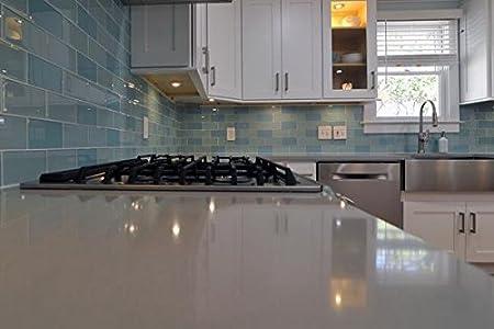 3 x 6 Sample Piece Pearl Grey 3x6 Glass Subway Tiles