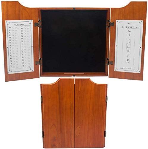 Amazon Com Solid Wood Dartboard Cabinet With Scoreboard Dart