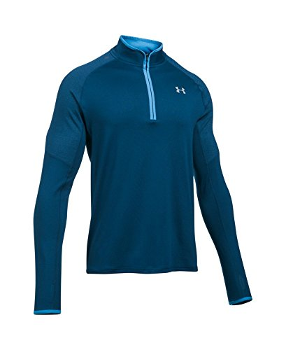 Under Armour Men's No Breaks Run 1/4 Zip, Blackout Navy /Reflective, Small by Under Armour (Image #3)
