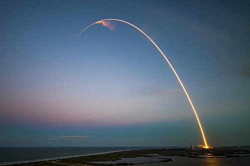 Laminated 36X24 Inches Poster  Rocket Ses 9 Launch Cape Canaveral Rocket Launch Satellite Orbit Space Falcon 9 Spacex Nasa Launch