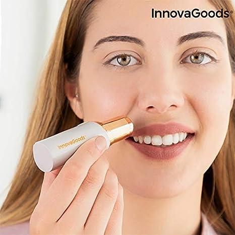 InnovaGoods - Depiladora Facial Indolora con LED, Gris Perla