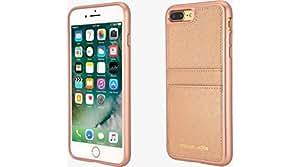 Michael Kors Saffiano Leather Pocket Case iPhone 8 Plus/7 Plus - Ballet Rose Gold
