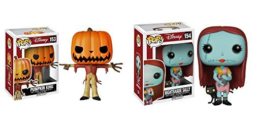 Nightmare Before Christmas Jack the Pumpkin King and Sally with Nightshade Pop! Vinyl Figures Set of (Sally From The Nightmare Before Christmas Costume)