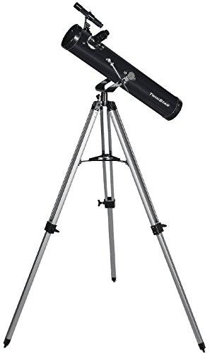 FirstView 3'' Reflector Telescope With Universal Smartphone Camera Adapter (Black)