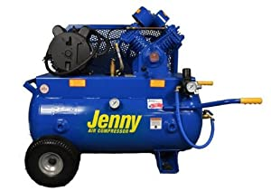 Jenny G3A-30 Single Stage Horizontal Corded Electric Powered Stationary Tank Mounted Air Compressor with G Pump, 30 Gallon Tank, 1 Phase, 3 HP, 230V from Jenny Products, Inc