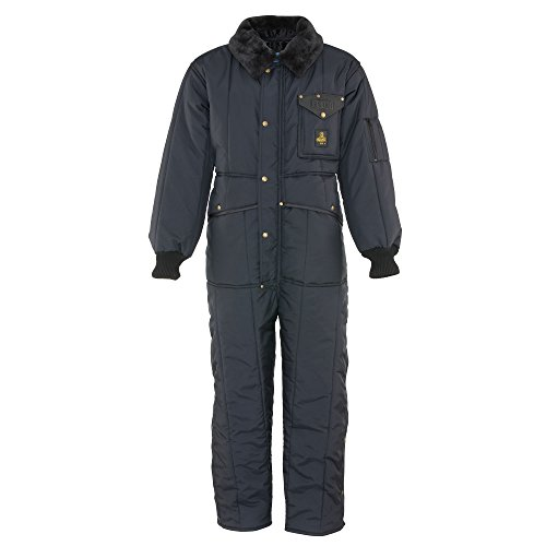 Refrigiwear Men's Iron-Tuff Insulated Coveralls -50 Extreme Cold Suit (Navy Blue, Large) -