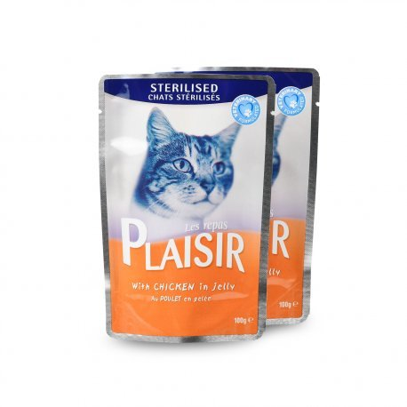 Equilibrio & Instinct, bocaditos al pollo de gelatina – Comida de placer para gato