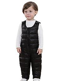 Happy Cherry Unisex Kids Boys Zipper Down Suspender Trousers Overalls
