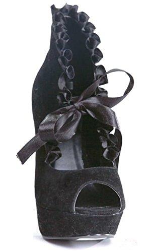 Claissa-517 Calzado Adulto Negro - Talla 7
