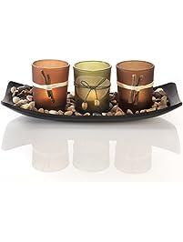 natural candlescape set 3 decorative candle