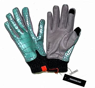 Honns MaryJane Womens Lambskin Gloves Size Medium 7 //6.5 Small Peppermint Grey