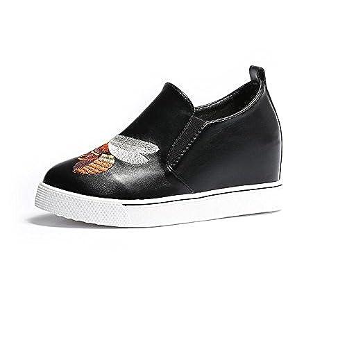 1a80820d Nuevo Mocasines para Mujeres Punta Redonda Bordado de La Pequeña Abeja  Zapatos Étnicos Tacones de Cuña