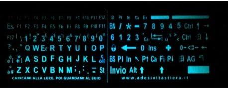StickersLab – Pegatinas con letras grandes, teclado italiano ...