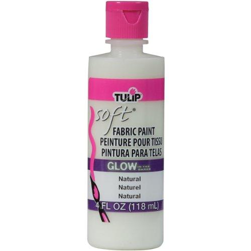Tulip 29098 Soft Fabric Paint 4oz Glow Natural ()