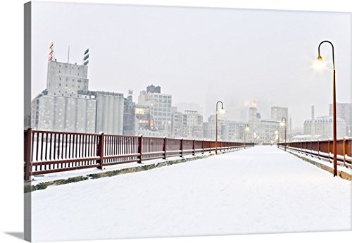 Great BIG Canvas Gallery-Wrapped Canvas entitled The Stone Arch Bridge in Minneapolis Minnesota