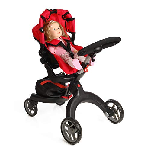 Mommy and Me SoCutie Doll Stroller with Swiveling Wheels and Adjustable Handle. 31