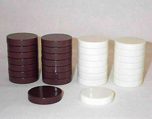 Khan Imports Rust and Cream Backgammon Pieces, Replacement Backgammon Chips - 1 1/4 Inch
