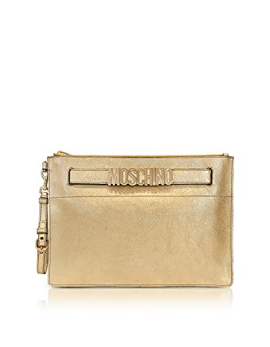 Moschino Mujer 84328011A0606 Oro Cuero Clutch