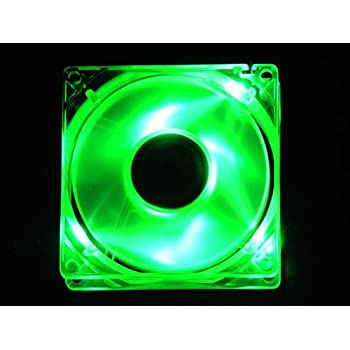 APEVIA CF4SL-UGN 80mm 4pin Molex Silent Green LED Case Fan - Connecting to Power Supply
