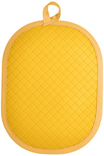 Rachael Ray Pot Holder & Trivet With Silicone Grip, Yellow