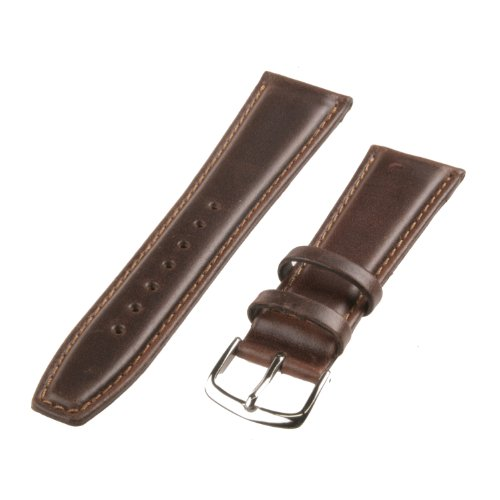 Republic Mens Oil Tan Leather Watch Strap, Brown, Size 17 MM Regular, Watch Central