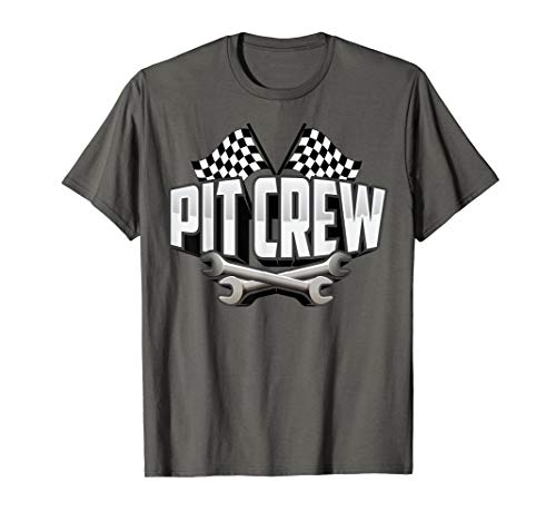 Cute Scruff Pit Crew For Shirt Race Car Parties