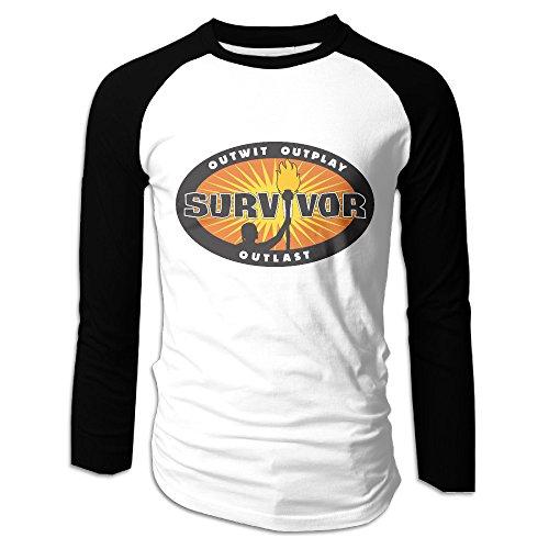 Creamfly Mens Survivor 32 2016 Long Sleeve Raglan Baseball Tshirt XL