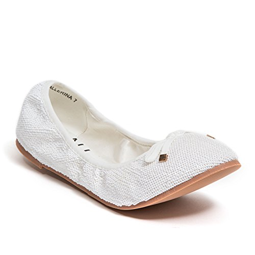 Lady Couture Ballet Flats With Bow Ninety Union Womens Shoes by, Ballerina White